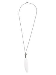 Simonn Feather Necklace White