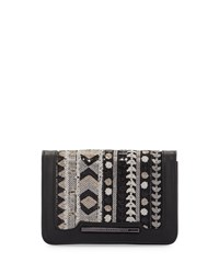 French Connection Vanessa Sequined Clutch Bag Black