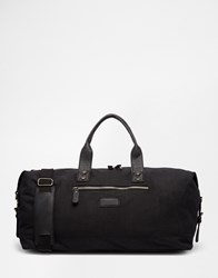 New Look Waxed Canvas Holdhall Black