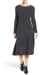 Classiques Entierr Women's Entier Wool Blend Boucle Fit And Flare Sweater Dress
