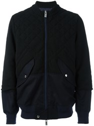 Sacai Quilted Bomber Black