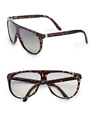 Yves Saint Laurent 99Mm Tortoise Shield Sunglasses