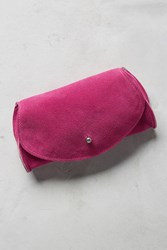 Anthropologie Pebbled Leather Clutch Rose