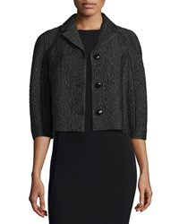 Michael Kors Half Sleeve Button Front Jacket Black Women's