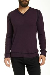 Autumn Cashmere High V Neck Cashmere Sweater Purple