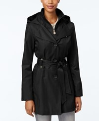 Inc International Concepts Hooded Raincoat Only At Macy's Black