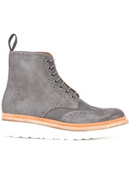 Grenson 'Emma' Lace Up Boots Grey