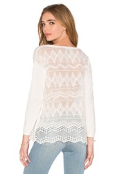 Joie Geolace Sweater White