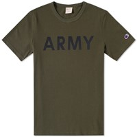 Champion Reverse Weave Army Tee Green