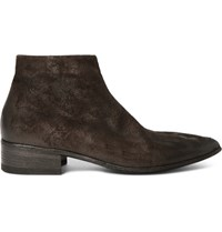 Marsell Washed Suede Boots Brown