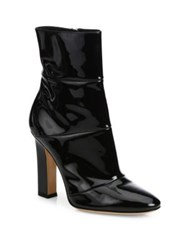 Gianvito Rossi Patent Leather Block Heel Booties Black