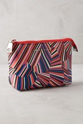 Anthropologie Los Feliz Cosmetic Bag Purple Motif