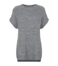 Set Knitted Cap Sleeve Jumper Female Grey