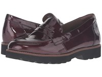 Braga Earthies Burgundy Crinkled Patent Women's Slip On Shoes Brown