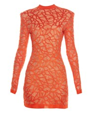 Balmain Coral Effect Knit Dress