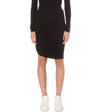 The Kooples Ruched Detail Jersey Skirt Black