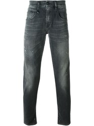 R 13 R13 Distressed Jeans Black