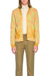 Junya Watanabe Links Plating Cardigan In Orange Abstract