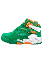 Ewing Rouge Hightop Trainers Jellybean Vibrant Orange White Green