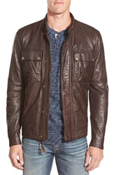 Lucky Brand 'Ace' Leather Jacket Brown
