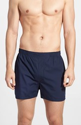 Men's Polo Ralph Lauren Woven Cotton Boxers Navy Rimin