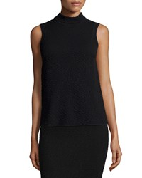 M Missoni Sleeveless Pebbled Top Black