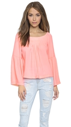 Nanette Lepore Island Party Top Creamsicle