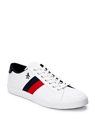 Penguin Canvas Lace Up Sneakers White