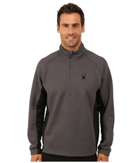 Spyder Outbound Half Zip Mid Weight Core Sweater Polar Black Polar Men's Sweater Brown