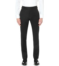 Tom Ford Straight Leg Wool And Mohair Blend Trousers Black