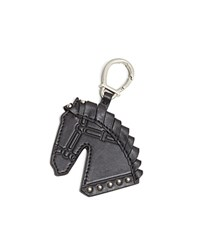 Etienne Aigner Horse Head Key Fob Black