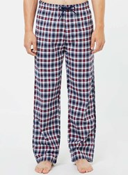 Topman Navy And Red Check Pyjama Bottoms