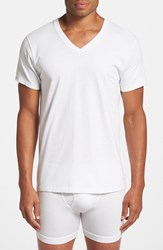 Men's Big And Tall Calvin Klein Cotton V Neck T Shirt White