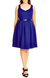 City Chic Plus Size Women's 'Sweetheart' Fit And Flare Dress