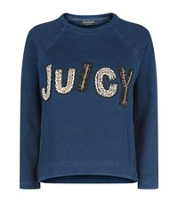 Juicy Couture Chain Logo Denim Sweatshirt Female