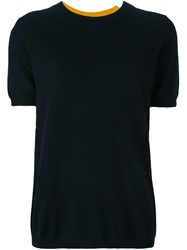 Twin Set Knitted T Shirt Black