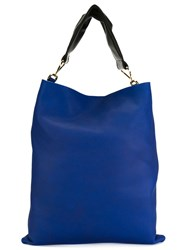 Marni Maxi Handle Tote Blue