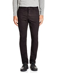 T By Alexander Wang Leather Pocket Slim Fit Jeans Black