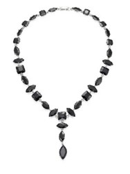 Fallon Jagged Edge Marquis Y Necklace Jet