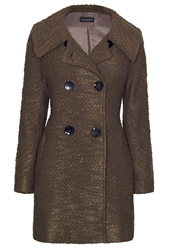James Lakeland Boucle Coat Khaki