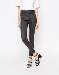 Cheap Monday High Spray Wax Jeans Charcoal