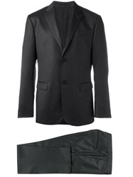 Z Zegna Tailored Business Suit Grey