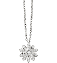 Astley Clarke Mini Starburst 18 Carat White Gold And Diamond Pendant Necklace White Gold
