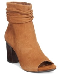 Kenneth Cole Reaction Fridah Coo Slouchy Peep Toe Ankle Booties Women's Shoes Pretzel