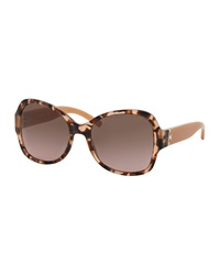 Tory Burch Marbled Butterfly Sunglasses Havana Blush