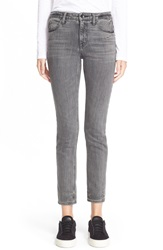 Helmut Lang Skinny Ankle Jeans Light Grey