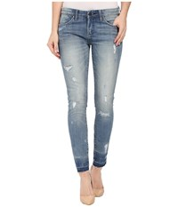 Blank Nyc Released Hem Crop Skinny In Bump And Run Bump Run Women's Jeans Blue