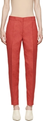 Calvin Klein Red Belfair Cropped Trousers