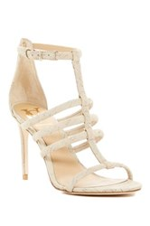 Vc Signature Taj Cork Stiletto Sandal White