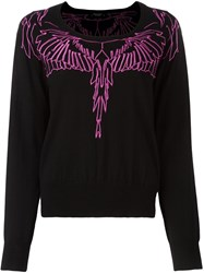 Marcelo Burlon County Of Milan Embroidered Wing Jumper Black
